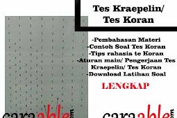 Tips Rahasia Cara Mengerjakan Tes Koran/ Tes Kraepelin Online + Download Tes Koran Word/ PDF