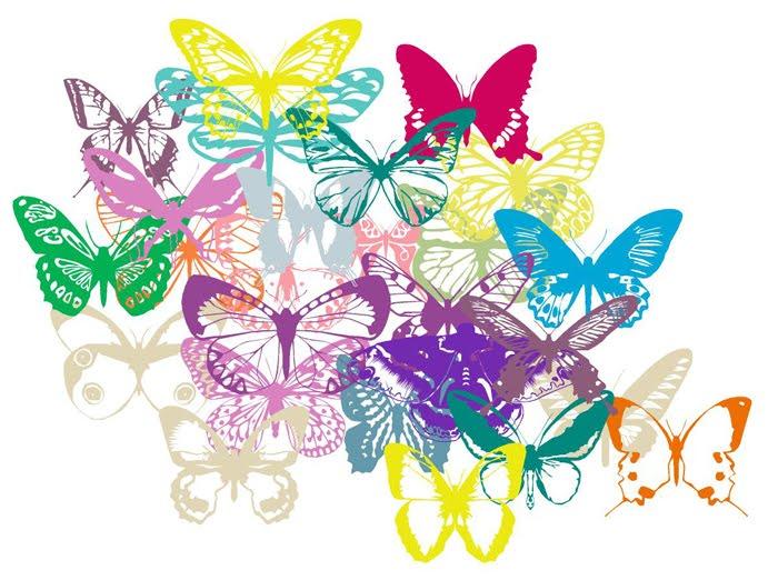 Dibujos De Mariposas Infantiles A Color: Mariposas De Colores Infantiles