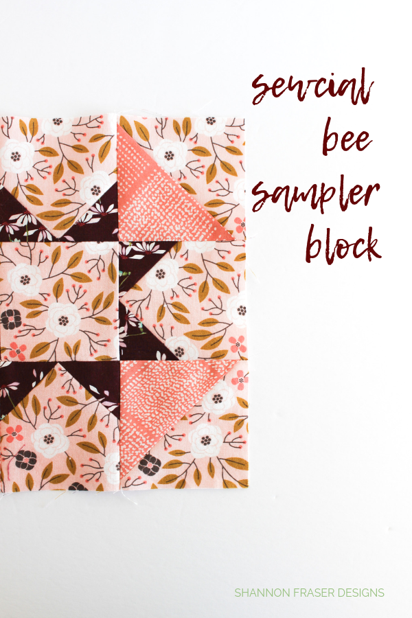 Sewcial Bee Sampler Block | Q2 2019 Finish-A-Long Proposed Projects | Shannon Fraser Designs