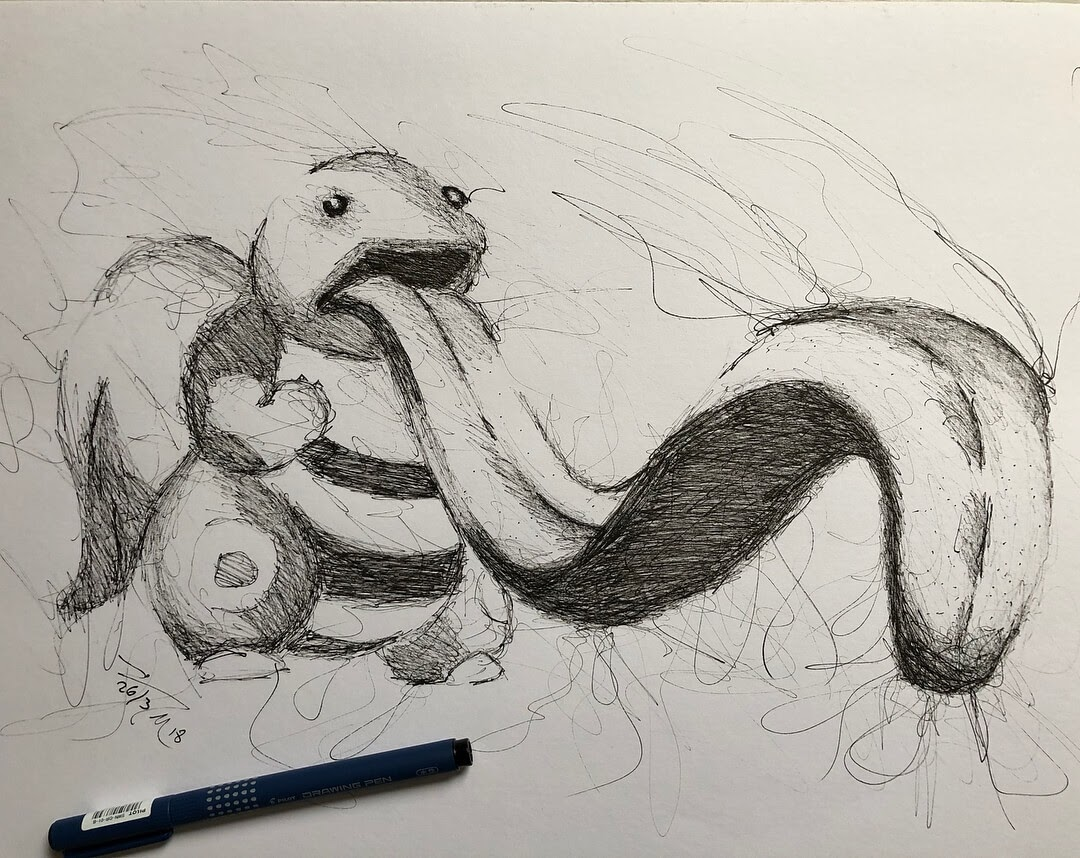 07-Pokemon-Lickitung-Jimmy-Mätlik-Fantasy-Animal-drawings-form-the-Movies-www-designstack-co