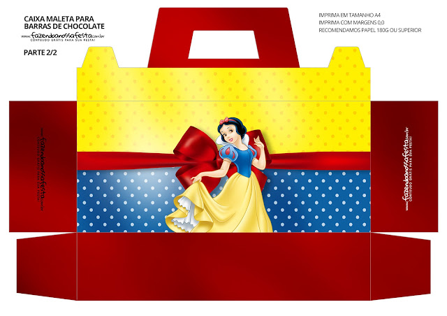 Snow White  Free Printable Suitcase Box.