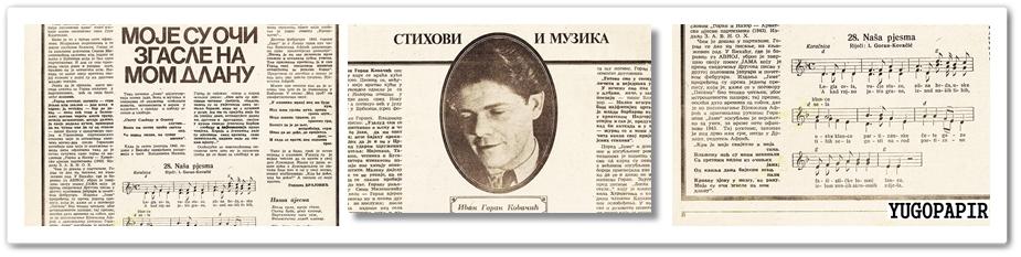 Yugopapir Ivan Goran Kovacic U Secanju Vladimira Nazora Kako Je