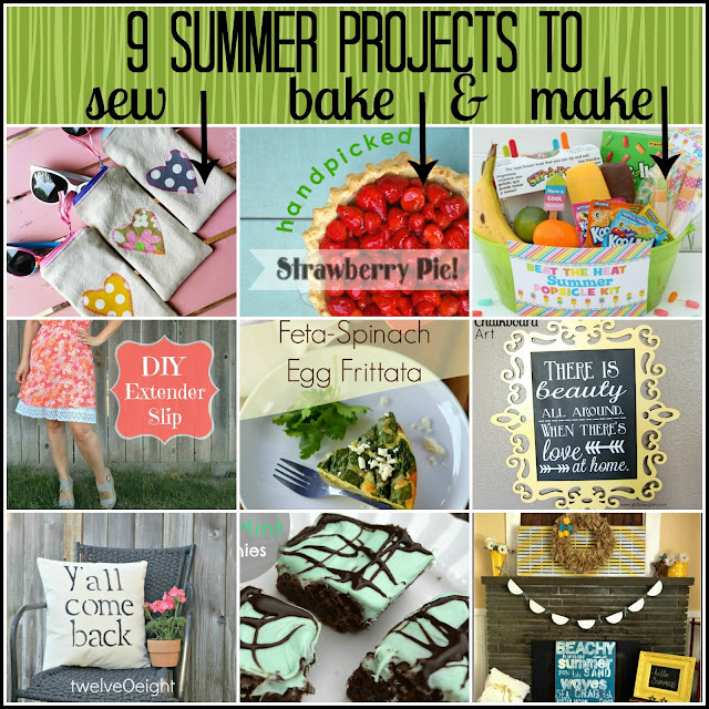 9 Summer Projects to Sew, Bake and Make via createcraftlove.com #features #linkparty #summer