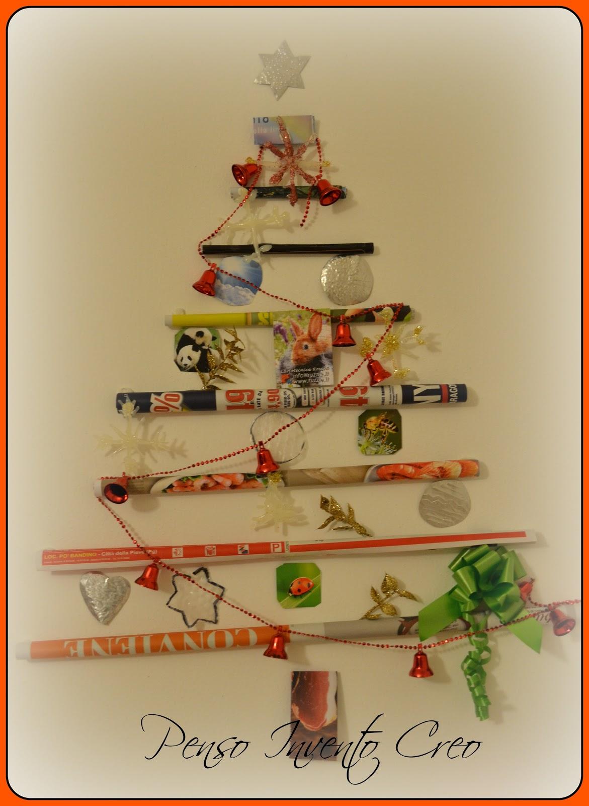 Biglietti Di Natale Con Carta Riciclata.Albero Di Natale In Carta Riciclata Penso Invento Creo