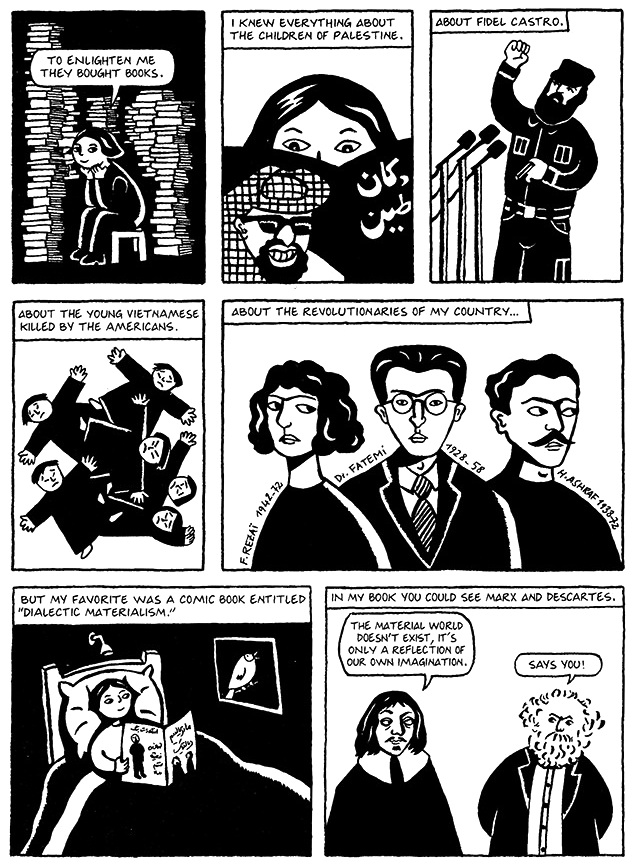 Read Chapter 2 - The Bicycle, page 10, from Marjane Satrapi's Persepolis 1 - The Story of a Childhood