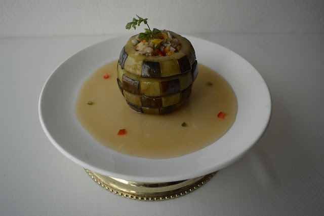 Aubergine with Chicken or Vegetable