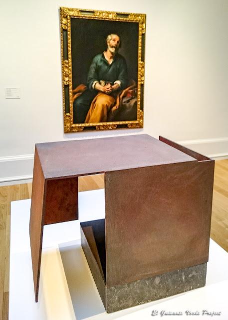 Caja metafísica por conjunción de dos triedros, Jorge Oteiza y San Pedro en Lágrimas, B.E. Murillo - Museo Bilbao por EGVP