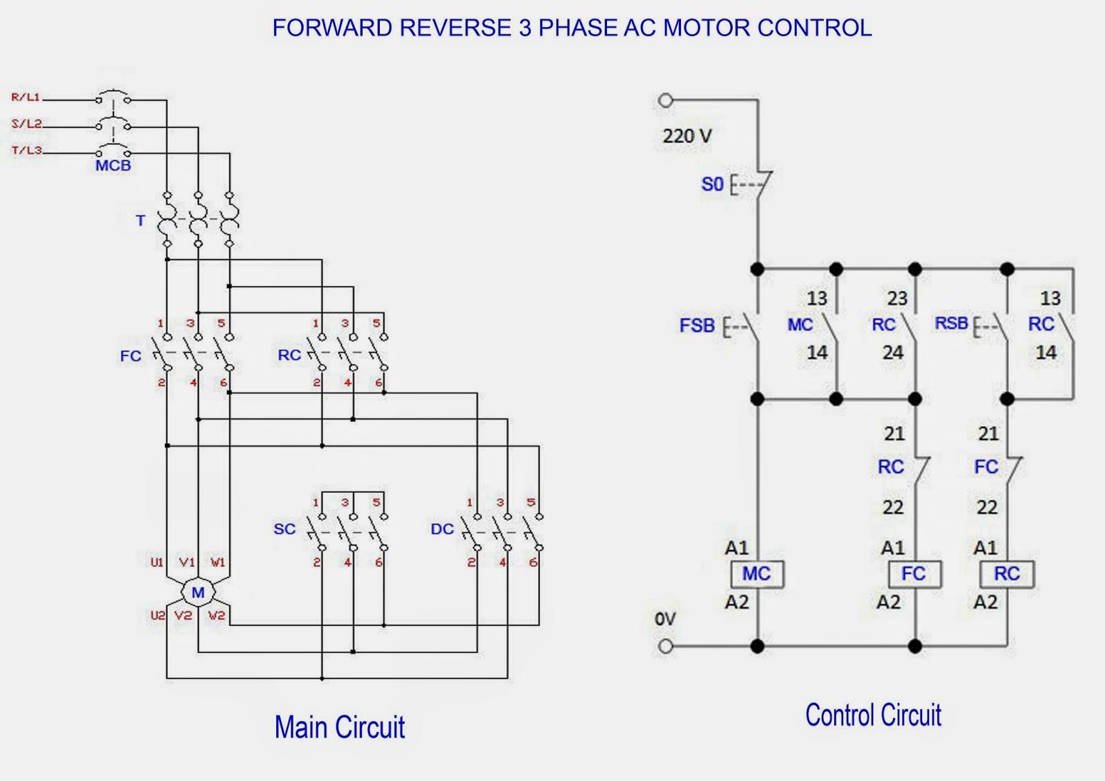 forward reverse electric motor wiring diagram