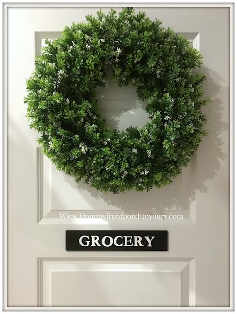 French Country-Farmhouse Kitchen-Pantry Sign-Grocery- DIY-Tutorial-Kitchen Decor-From My Front Porch To Yours