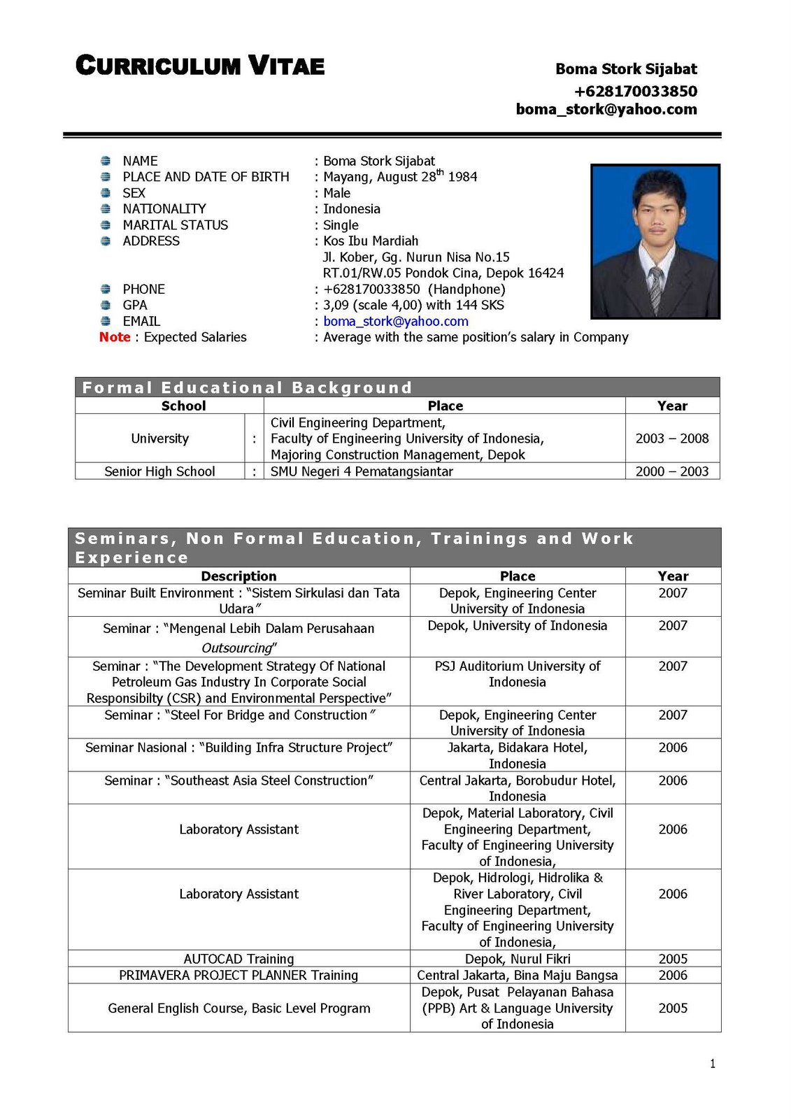Fresh Contoh Resume Doc Sample Mba Resume Format For Freshers 135