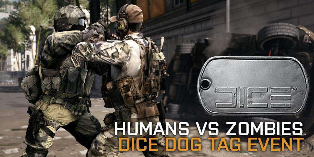 """Evento """"Humanos vs Zumbis"""" para Battlefield 4 dá a chance de você desbloquear uma Dog Tag da DICE"""