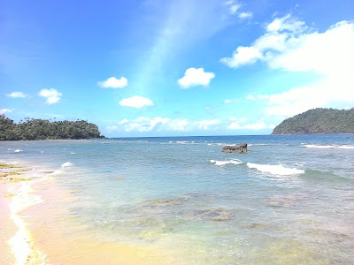 beach, white sand, and sea in Pulau teunom