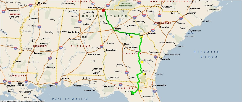 Map Of Georgia On I 75.Roving Reports By Doug P 2011 14 Georgia