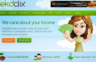 EkoClix - Płatne oglądanie reklam, opinie, opis