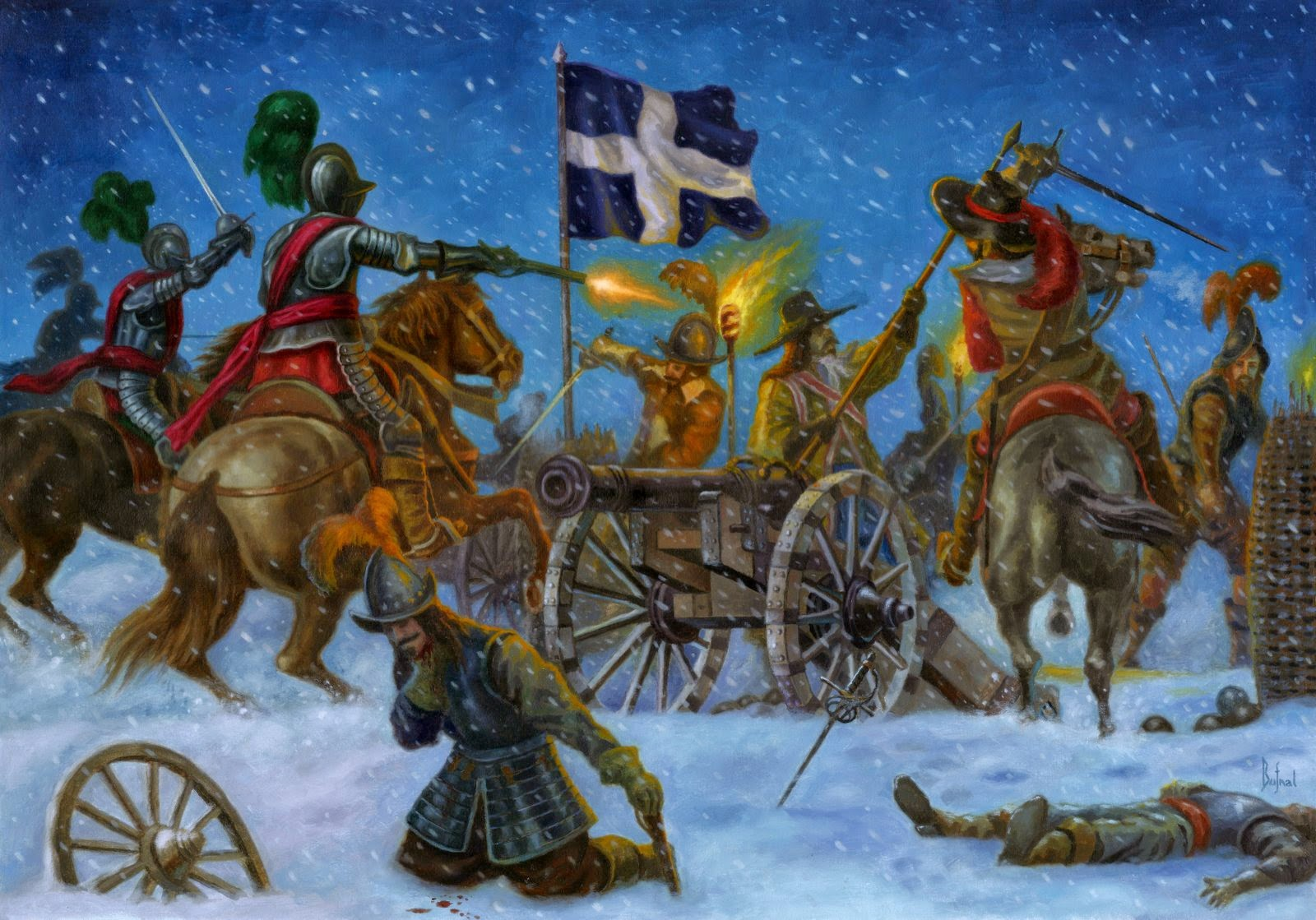 Imaging Battles Night Of Cuirassiers And Dragoons