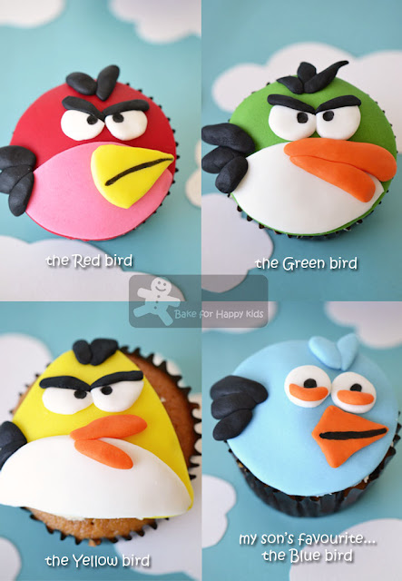 Bake for Happy Kids: Angry Birds Cupcakes