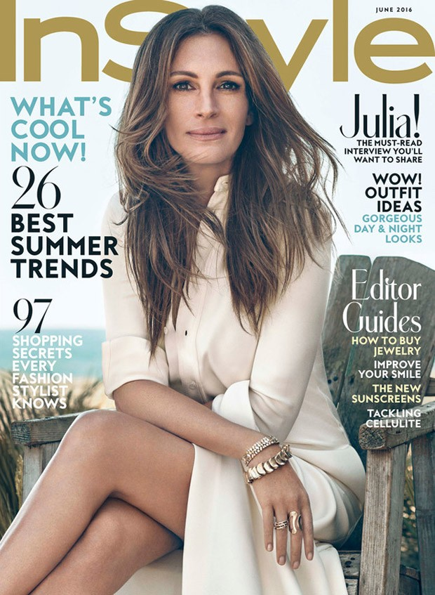 Julia Roberts covers InStyle June 2016