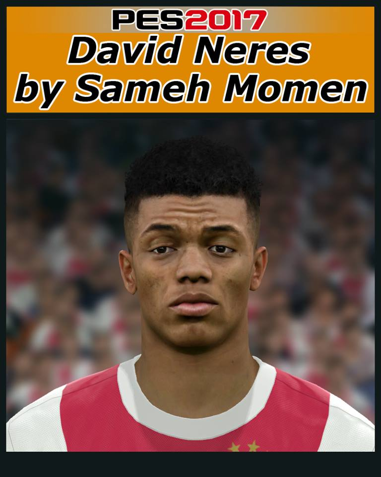 Pes 2017 L Moura Face By Sameh Momen: FB Facemaker: David Neres Face For PES 2017 By Sameh Momen