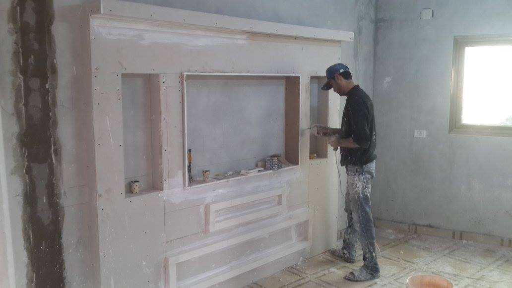 Handmade Gypsum Board Tv Units Before And After Home Decor