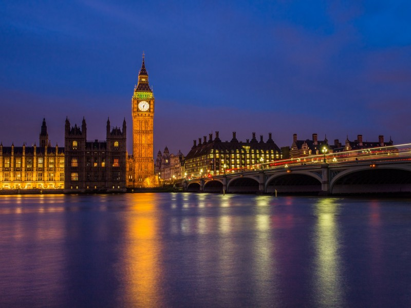 Download Queen Elizabeth Tower With Lights Turned on HD wallpaper. Click Visit page Button for More Images.