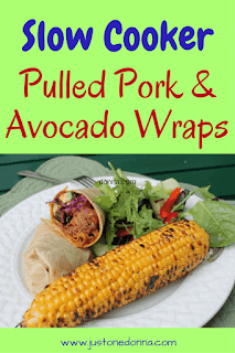 Slow Cooker Pulled Pork and Avocado Wraps