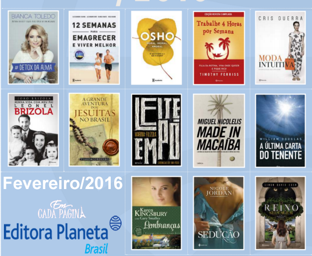 [Lançamento] Editora Planeta - Fevereiro/2016