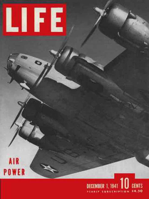 Life magazine featuring a US Army Air Force bomber on its cover, 1 December 1941 worldwartwo.filminspector.com