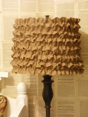My Next Project: DIY Burlap Ruffle Lamp Shade