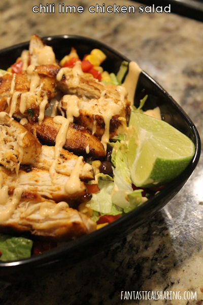 Chili Lime Chicken Salad #recipe #salad #chicken #lime #maindish