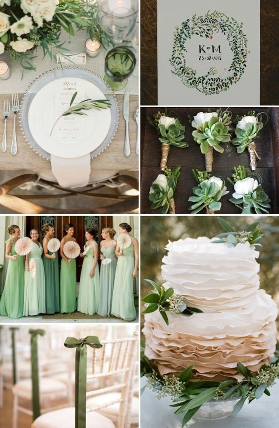 Go Green For Your March Wedding. This Works Especially Well For A St.  Patricku0027s Day Wedding. Choose A Shamrock Green When Your Wedding Date Is  March 17th.