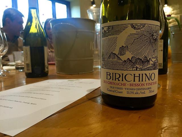 Birichino wine at the Olive Branch in Clipsham