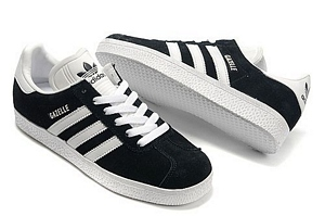 purchase cheap c68e6 9aad4 Adidas gazelle negras y blancas 50€