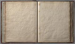 typical braille map and text