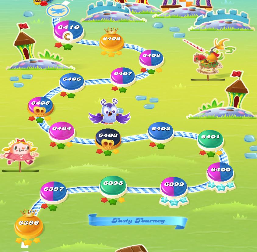 Candy Crush Saga level 6396-6410