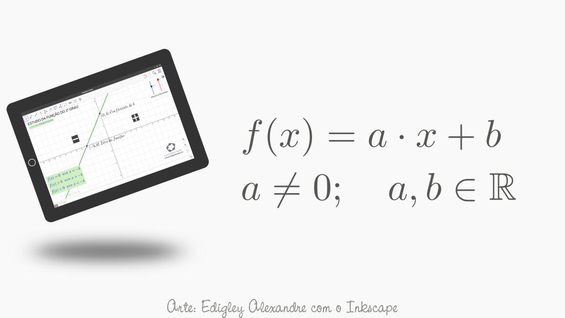 Applet para o estudo da função polinomial de primeiro grau com o GeoGebra