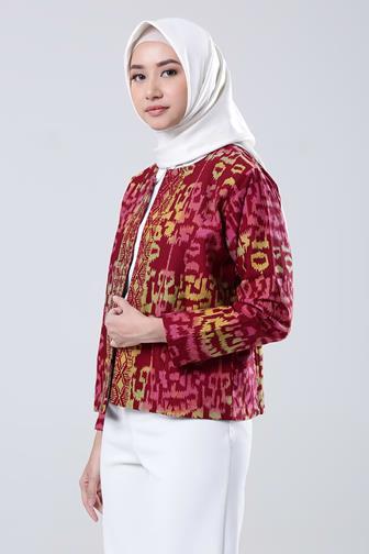 Model Baju Batik Untuk Seragam Guru Wanita Muslimah