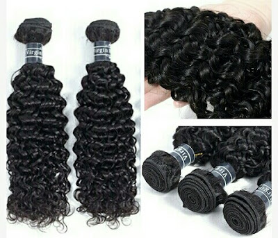 Amella Virgin Hair Extensions - Women's Curly Brazilian Weave Hairs