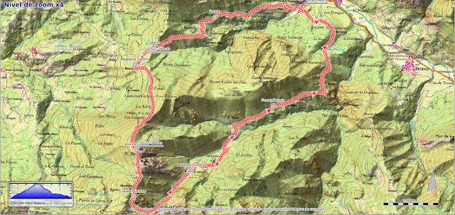 Mapa de la ruta Belerda, Visu La Grande