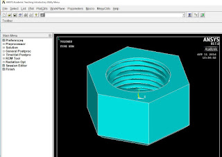 Imported Creo parametric IGES in Ansys