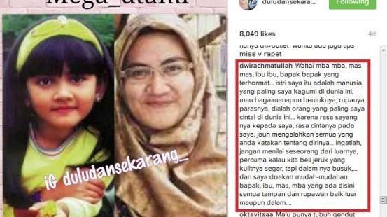 begini pembelaan suami mega utami untuk para netizen