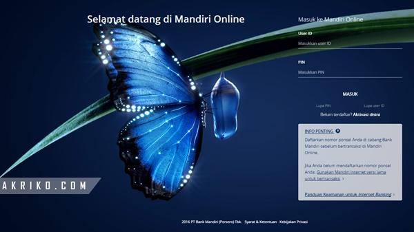 Mengaktifkan SMS Banking untuk Mandiri Online