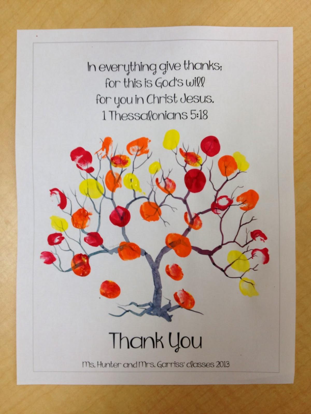 Bonnie Kathryn Thankful Kindergarteners