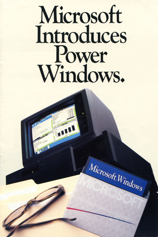 Windows 1.0 brochure - 1