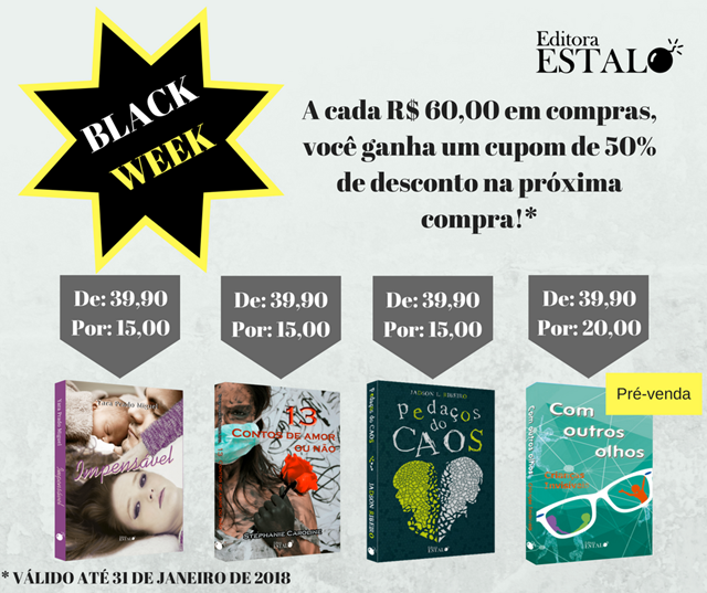 Black Week na Editora Estalo