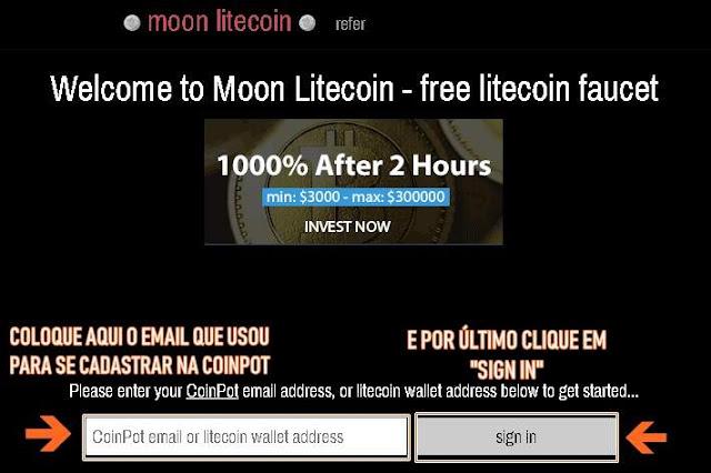 Moon Litecoin cadastro