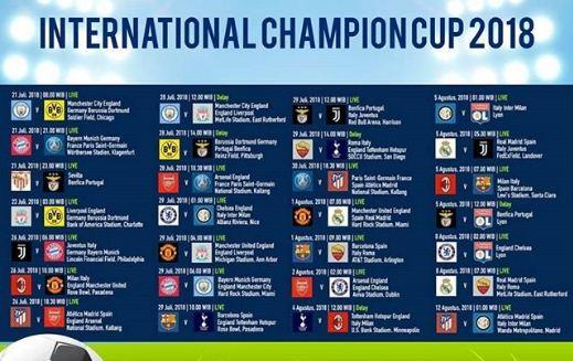 Jadwal Lengkap International Champions Cup 2018 Siaran Langsung TVRI & iNews TV