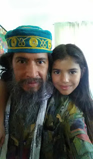 Ahgamen Keyboa and Shylah-Keyboa in America, father and daughter