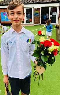 My son on his last day at Primary School