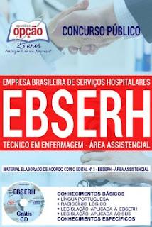 Concurso EBSERH Nacional 2018 (Área Assistencial)
