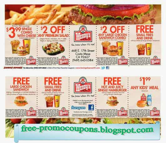 Wendys coupons april 2019